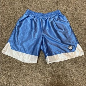 Nike Vintage Shiny Ribbed Shorts Basketball Patch